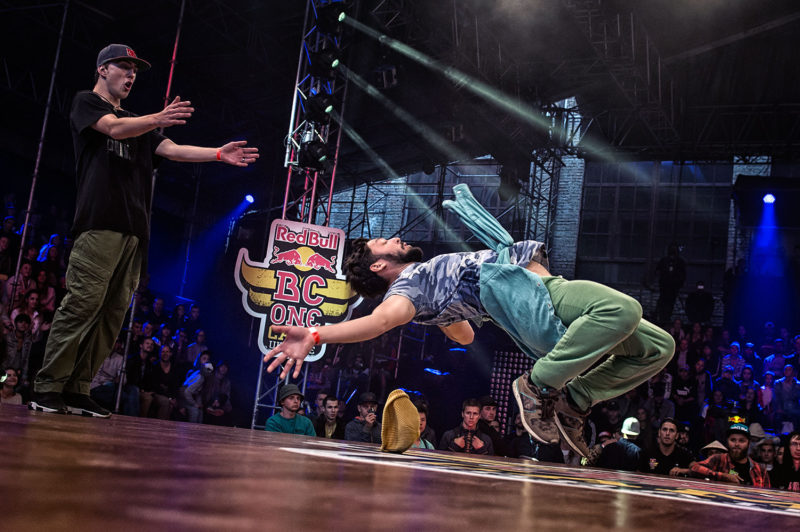 Participants compete in the All Styles Battle during Red Bull BC One Camp Ukraine at Art-Zavod Platforma in Kiev, Ukraine, on August 13, 2016.