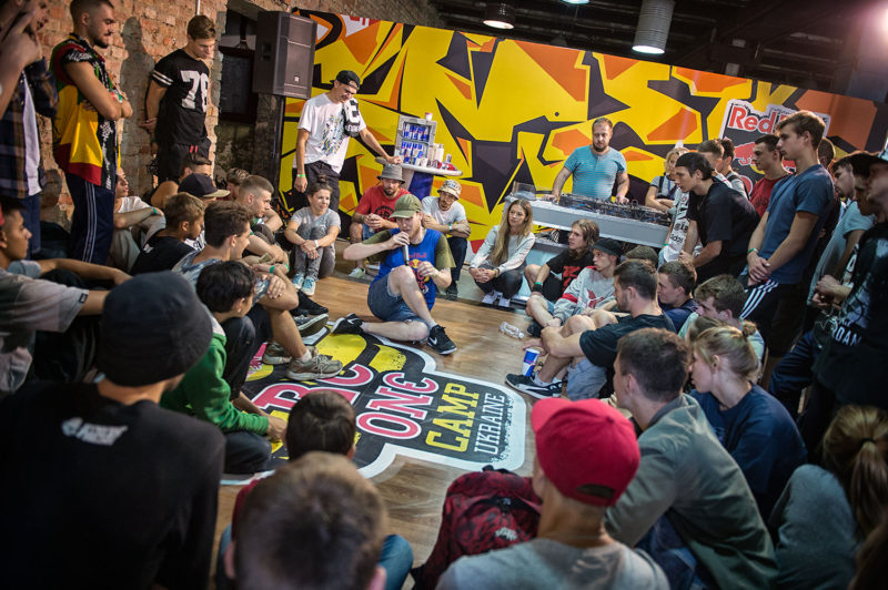 Red Bull BC One All Star Menno from Holland gives a workshop during Red Bull BC One Camp Ukraine at Art-Zavod Platforma in Kiev, Ukraine, on August 14, 2016.