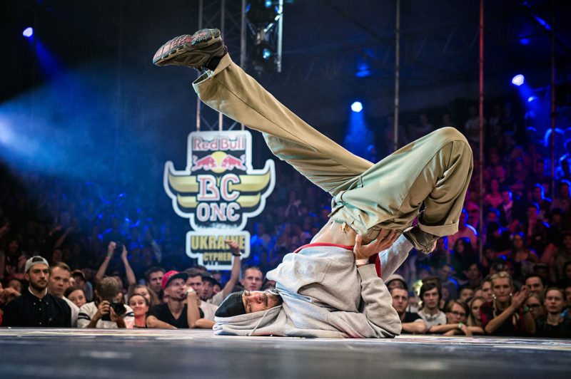 Uzee Rock competes in Red Bull BC One Ukraine Cypher at Art-Zavod Platforma in Kiev, Ukraine, on August 14, 2016.